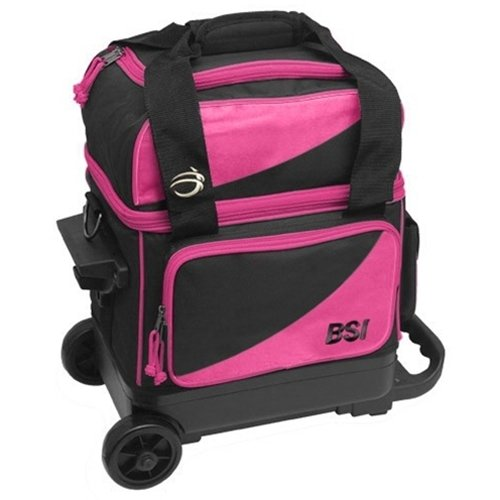 Bowlers Superior Inventory BSI Prestige Single Roller Bowling Bag- Pink/Black () by Bowlers Superior Inventory