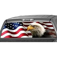 AMERICAN EAGLE Flag stars Rear Window Graphic Decal Tint Sticker Truck suv ute