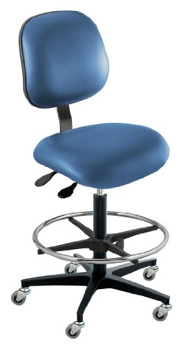 - BioFit - EEC-H-R-ATF-AV106 - Vinyl Ergonomic Chair with 22 to 32 Seat Height Range and 300 lb. Weight Capacity, Royal