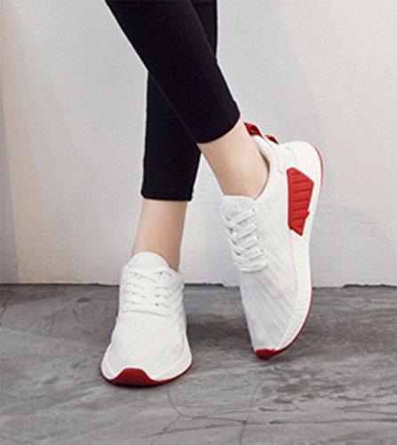 MEI Fall Sport Frauen Schuhe Student Laufschuhe flache Flaschen Schuhe Breathable Casual Schuhe Couples Schuhe , US8.5/ EU40 / UK6.5/ CN40