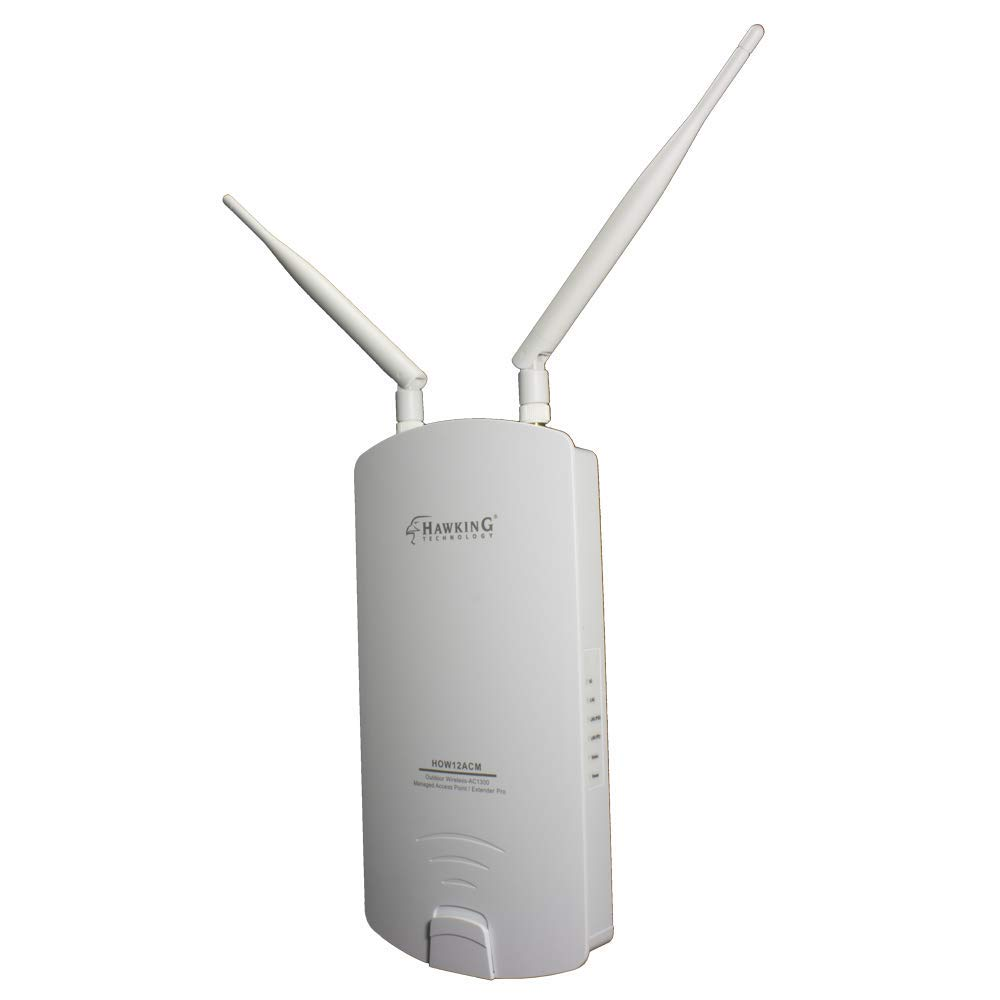 Hawking Technology Outdoor Wireless AC1300 Access Point, Bridge, Repeater, Extender Pro (HOW12ACM)
