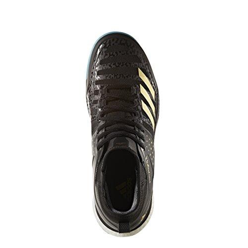 Adidas Mens Crazyflight X Mid Volleybalschoenen (kern Zwart, Goud Ontmoet., Ijsblauw F17)