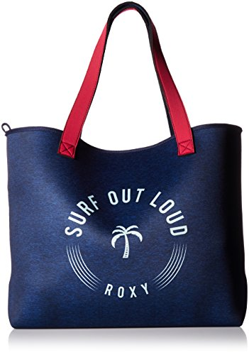 Roxy Inside the Rock Tote Bag, Blue Light Rain Daze Small (Roxy Handbag)