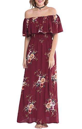 Zattcas Womens Shoulder Summer Floral product image