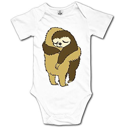 YUE-SKD-SK Sloth Hugs Newborn Baby Girl Clothes Short