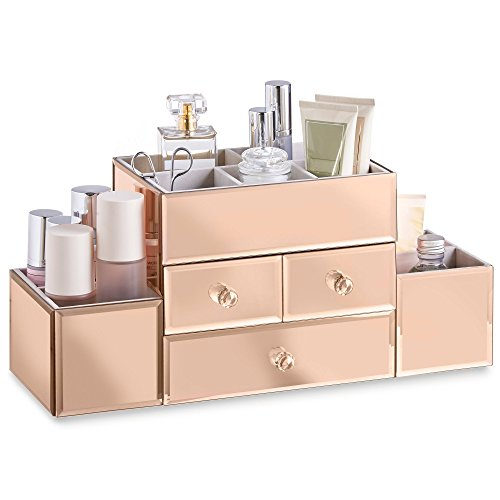 Beautify Mirrored Cosmetic Organizer Sections