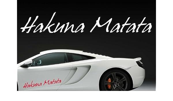 Z325 Hakuna Matata - Auto divertido Texto en alemán