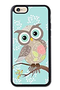 Generic High Quality Snap On Cocking Head New Fancy Owl Design Soft TPU Cellphone Case Back Skin Cover Protector For iPhone 6 (Choose from Black and White) by ruishername