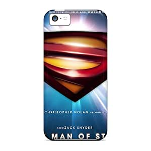 Top Quality Rugged Superman Man Of Steel 2013 Case Cover For Iphone 5c