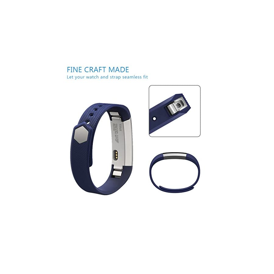 AK for Fitbit Alta Bands, Replacement Bands for Fitbit Alta/Alta HR with Metal Clasp (Blue,Small)