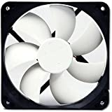 Nexus Real Silent 120mm Fan with Anti-Vibration Fan Mounts (Black and White)