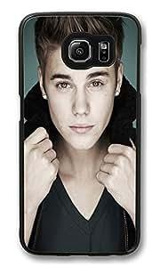 S6 Case, Justin Bieber Pop Collar Creativity Ultra Fit Black Bumper Shockproof Case For Galaxy S6 Customizable Hard PC Samsung Galaxy S6