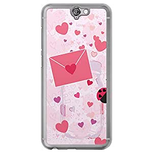Loud Universe HTC One A9 Love Valentine Printing Files Valentine 158 Printed Transparent Edge Case - Pink