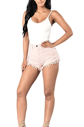 En Pink Denim Court Un Maigre Des Pantalons Beach Coup Club Jeans Hot w1B7YqB