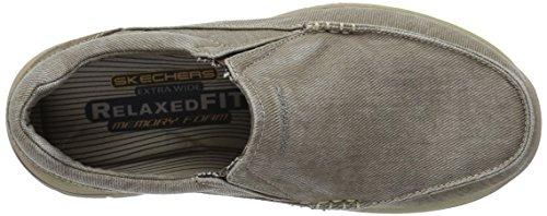 Avillo Skechers sulla Casual scivolare scarpa previsto uomo Khaki 55XrxtUqw