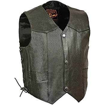Black, Small Hot Leathers Youth Classic Biker Vest
