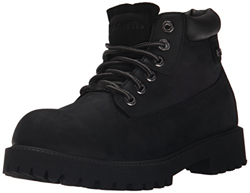 Skechers USA Men's Sergeants Verdict Chukka Boot, Black Smooth Leather, 13 M US