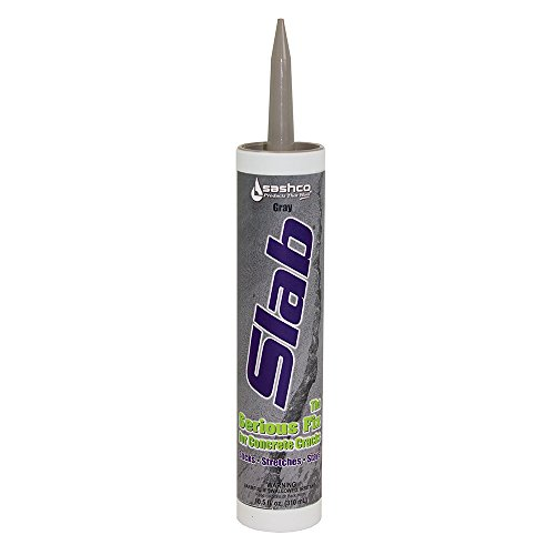 (Sashco Slab Concrete Crack Repair Sealant, 10.5 Ounce Cartridge, Gray (Pack of)