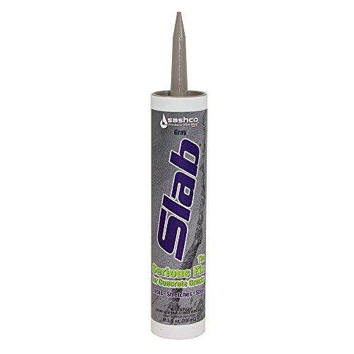 Sashco Slab Concrete Crack Repair Sealant, 10.5 Ounce Cartridge, Gray (Pack of 12)
