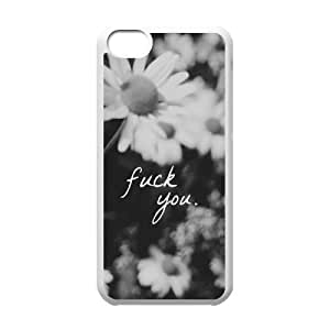 Fuck Flowers Customized Case for Iphone 5C, New Printed Fuck Flowers Case