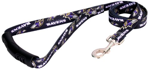 Yellow Dog Design Baltimore Ravens Licensed NFL EZ Leash, Large, 1-Inch by 60-Inch, My Pet Supplies