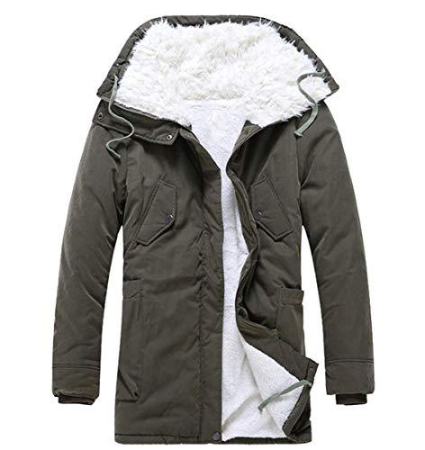 Cappotto Giacca Inverno Militare Maschile Verde Caldo Di Casuale Ispessita Pisello Rkbaoye Pile Hoodie tq8BRxn8wO