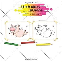 Libro Da Colorare Per Bambini Simpatici Animali Maiale Pesce