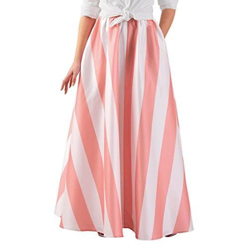 dfd3b3808236 eShakti Women's Stripe print dupioni maxi skirt outlet - url.ellen.li