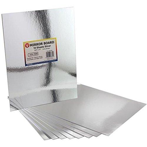 Hygloss Mirror Board, 8.5 by 11-Inch, Silver, (Ceiling Mirror)