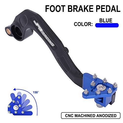 AnXin Motorcycle Rear Brake Pedal Foot Lever for Yamaha YZ250F 10-20,YZ250FX 15-20,WR250F 15-20(Blue)