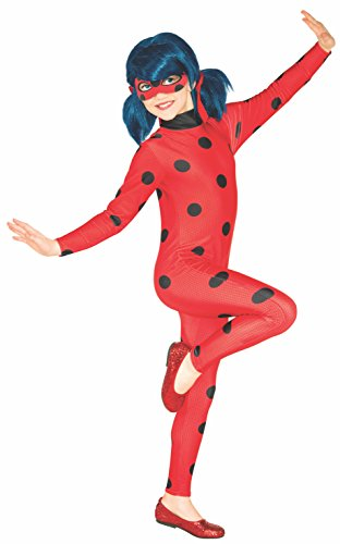 Lady First Costumes (Rubie's Costume Miraculous Ladybug Value Child Costume,)