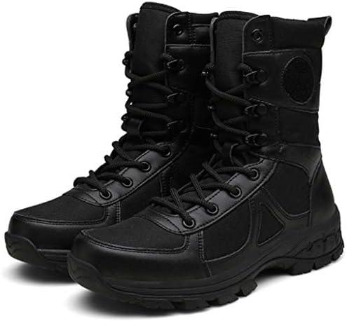 タクティカルブーツマイクロファイバーレザーハイヘルプアンチキックヒールレースアップスタイルの登山靴滑り止め耐摩耗耐久性に優れたラバーソール (色 : 黒, サイズ : 27.5 CM)