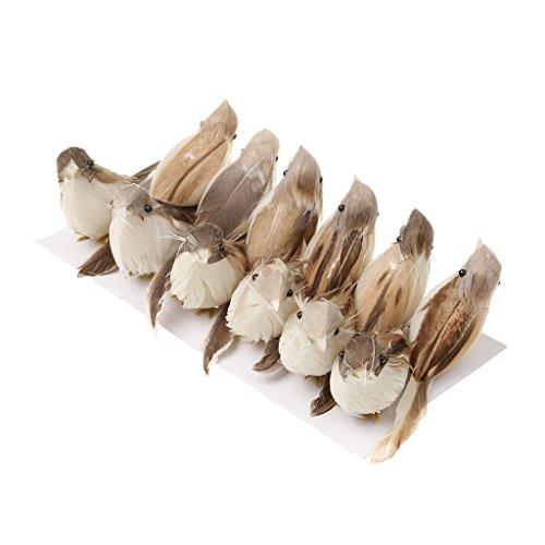 Jili Online 12Pieces Cute Small Artificial Feather Bird Foam Birds Photo Props Home Table Garden Bonsai Decor