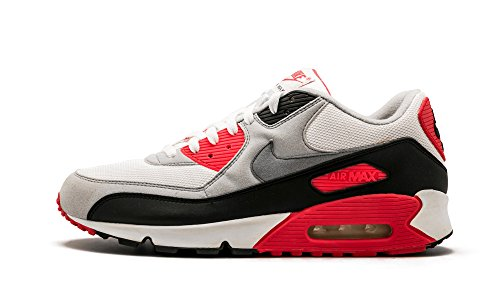 Nike Air Max 90 Klassiske Wht / Cement Grå-inrared-sort dVmEE