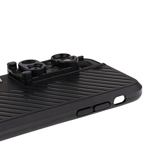 MagiDeal Cellulare Fisheye Teleobiettivo e Macro Lenti Case Cover Per Telefoni Cellulari Esterno Per iPhone 7 Plus