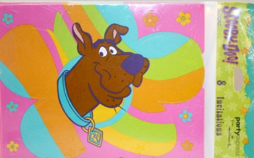 (Scooby-Doo! 'Groovy' Invitations w/ Envelopes)