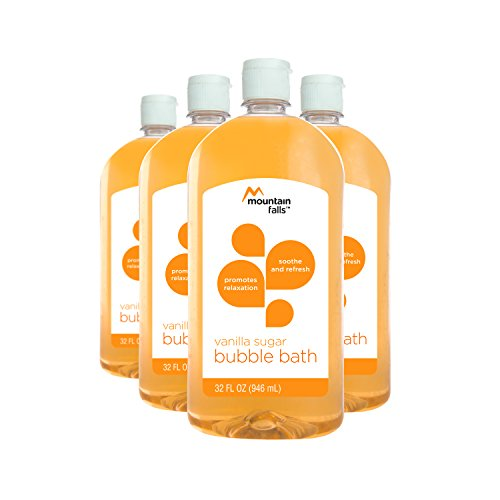 Mountain Falls Bubble Bath, Vanilla Sugar, 32 Fluid Ounce (Pack of 4) (Sugar Soak Bath)