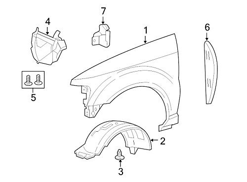 Genuine Ford 6L2Z-16055-AA Fender Apron Assembly