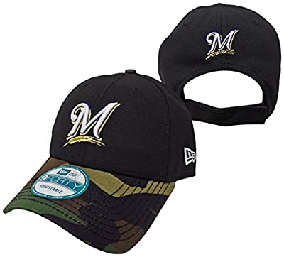 Milwaukee Brewers The League Camo 9FORTY Adjustable Hat / Cap
