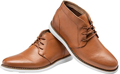Pictures of JOUSEN Men's Chukka Boots Casual Leather 2