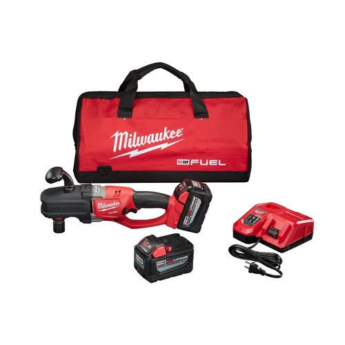 Angle Right Drill Kit (Milwaukee 2708-22HD M18 Fuel Hole Hawg Right Angle Drill Kit with Quik-Lok)