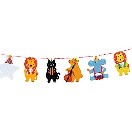 Riverbyland Pack Of 10 Multicolor Animals Banner by Riverbyland
