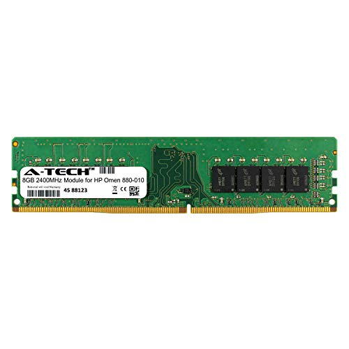 A-Tech 8GB Module for HP Omen 880-010 Desktop & Workstation Motherboard Compatible DDR4 2400Mhz Memory Ram (ATMS282421A25820X1)