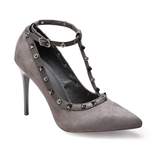 De Gris La Vestir Mujer Material Zapatos Modeuse Sintético a6xAwxfFqT