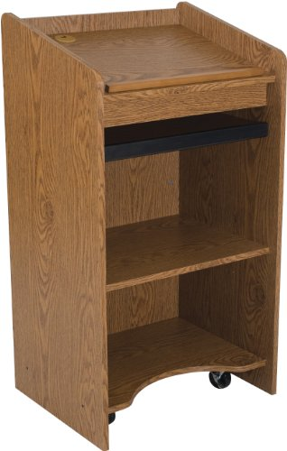 (Balt 27510 Mobile Floor Lectern, Oak, 46