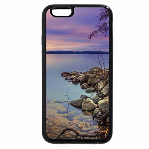 iPhone 6S Case, iPhone 6 Case (Black & White) - Cloudy Autumn Day