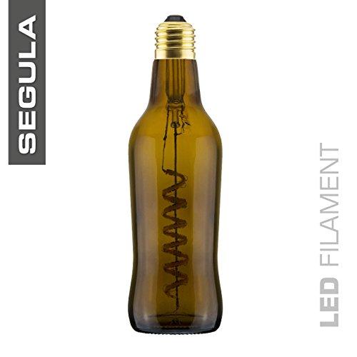 LED Beer Bottle Light Bulb, Brown, Dimmable, USA Socket ()