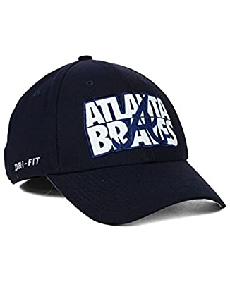 Atlanta Braves Nike Dri-Fit Legacy91 Verbiage Hat Cap (M/L)