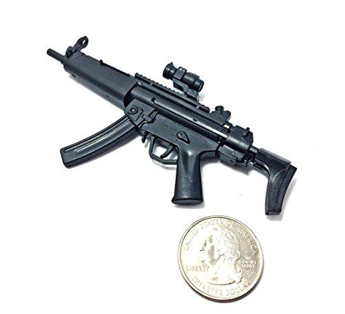 Gun Black Machine - 1/6 Scale MP5 Submachine Gun SWAT H&K German Miniature Toy Guns Model Fit For 12