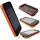 Orange and Black Premium Bumper Case for Apple iPhone 4 - AT&T